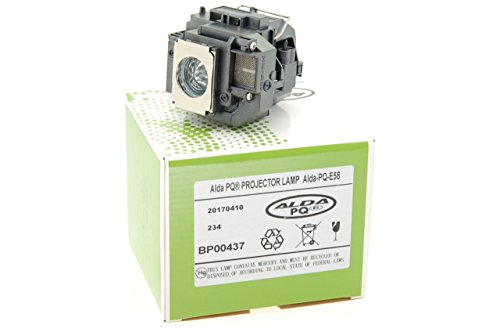 Alda PQ® Premium, Beamerlampe / Ersatzlampe passend für Epson EB-S10, EB-S9, EB-S92, EB-W10, EB-W9, EB-X10, EB-X9, EB-X92, EX 2200, EX3200, EX5200, EX7200, H367A, H367B, H367C, H368A, H369A, H375A, H375B, H376B, H391A, PowerLite 1220, PowerLite 1260, PowerLite S10+, PowerLite S9, PowerLite X9, VS200 Projektoren, Alda PQ® Lampe mit Gehäuse / Halterung