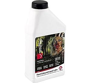 Smiffys-47042 Látex líquido Look Zombi, bajo en amoniaco, Piel, 473,17ml/16 US FL.oz, Color Carne, No es Applicable (Smiffy