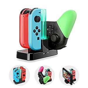ECHTPower 6 in 1 Nintendo Switch Joy-Con Ladestation