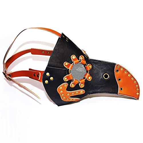 Bbyaki Steampunk Pestvogel Umbrella-Maske Cosplay Retro Fashion Dress Up