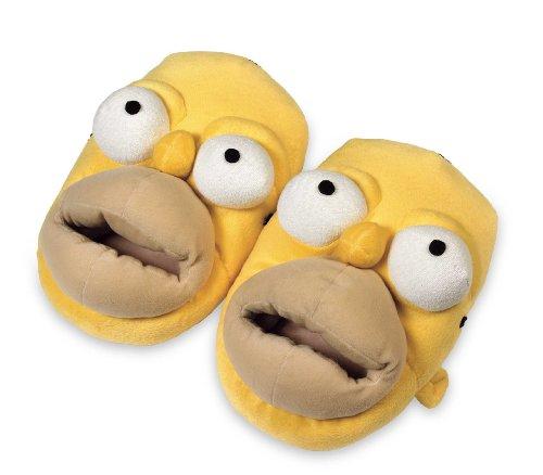 Unitedlabels - 0807007 - Slipper The Simpsons 3D - Homer Simpsons - Größe XL - 44-46