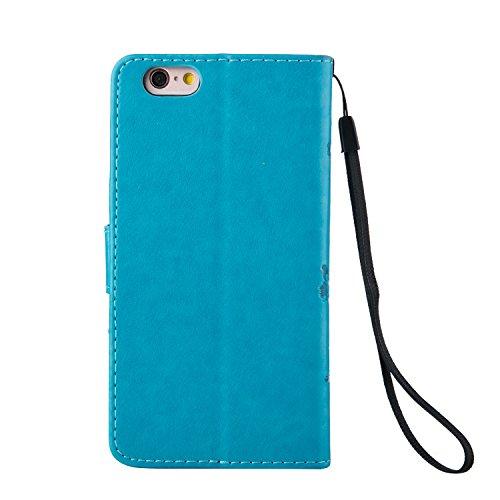 Tebey Schutzhülle für iPhone SE, iPhone SE, Leder, Premium-Lederetui für iPhone SE/iPhone 5/5S mit Kartenfächern und Ständer, Ultra-schmal, Schutzhülle für iPhone SE mit 1gratis-Eingabestift als Gesc 6#