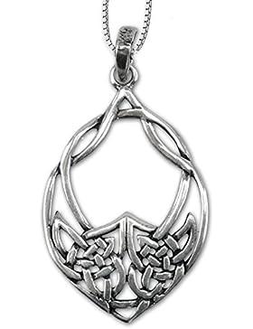 Anhänger Keltischer Knoten Amulett 925er Silber Schmuck – Schutzamulett – mit Kette Halskette Silberkette 5306