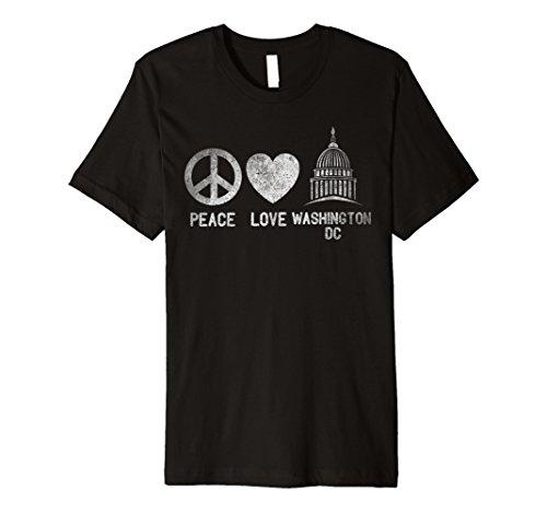Washington Dc TShirt USA Vintage Travel Peace Love Shirt c4356a28874