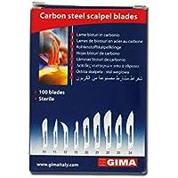 GIMA 27000 Chirurgische Kohlenstoff Klinge mit Sicherheit runden Spitze, N10, Steril