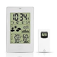 ☆☆ Temperatura:- Temperatura alternativamente in ° C o ° F.- Intervalli di misurazione della temperatura interna: da 15 ° F (-9,9 ° C) a 122 ° F (50 ° C)- Intervalli di misurazione della temperatura esterna: da -20 ° C a 140 ° F (60 ° C)- Termometro ...