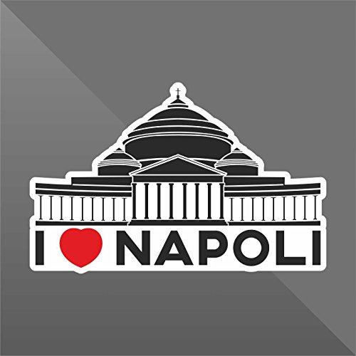 erreinge Sticker I Love Napoli Naples Nápoles Neapel - Decal Cars Motorcycles Helmet Wall Camper Bike Adesivo Adhesive Autocollant Pegatina Aufkleber - cm 10