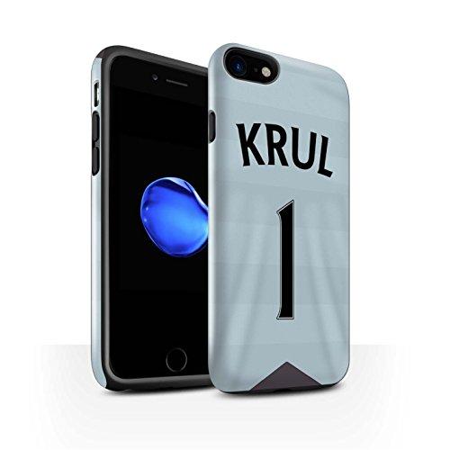 Offiziell Newcastle United FC Hülle / Glanz Harten Stoßfest Case für Apple iPhone 7 / Anita Muster / NUFC Trikot Away 15/16 Kollektion Krul