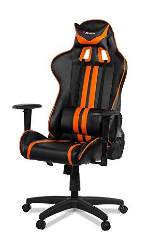 Arozzi Demi Chaise Gaming, Simili Cuir, Noir Orange, 70x 60x 90cm, 5unité