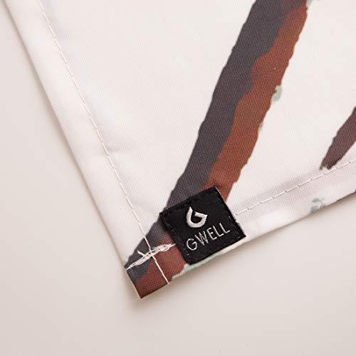 GWELL Duschvorhang mit Digitaldruck inkl. 12 Duschvorhangringe 180x200cm - 2