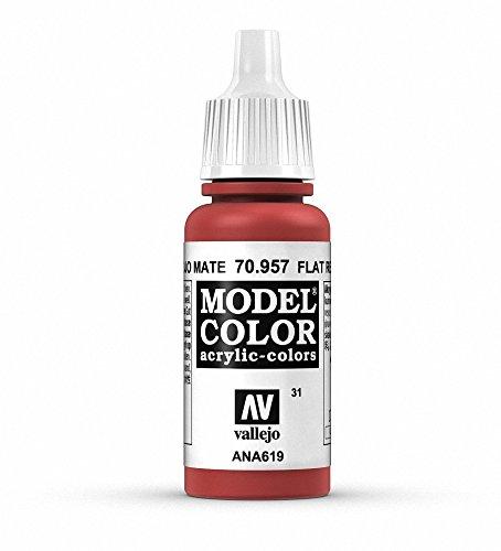 Vallejo 957 Model Color - Colore Acrilico, 17 ml, Flat Red