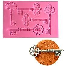 Wa Moldes de silicona para tartas, 5 llaves, molde para fondant,