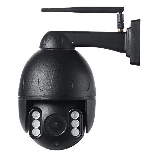 HOSAFE PTZ POE IP-Kamera im Freien 1080P Wireless-Überwachungskamera, Pan Tilt 5X Optischer Zoom Dome, Unterstützung ONVIF NVR/Software (Black)