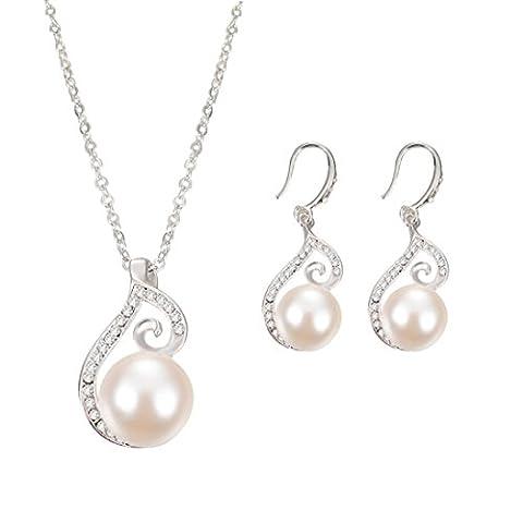 Collier,LHWY Nouvelle mariée mariage bijoux alliage ensemble collier boucles d'oreilles strass