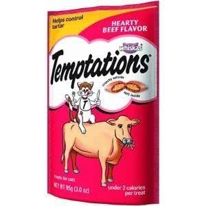 Whiskas Temptations Hearty Beef Flavour Treats for Cats by Mars, Inc. (English Manual)