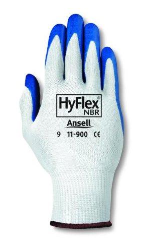 Ansell HyFlex 11-900 Gants oléofuges, protection mécanique, Bleu, Taille 10 (Sachet de 12 paires)