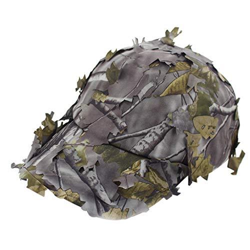 Harpily Reality Cs Camouflage Cap,Nachahmung Gras Dschungel Camping ScharfschüTzen Tarnung Hut Im FreienmilitäRische Trainings Dschungel Taktische Kappe -