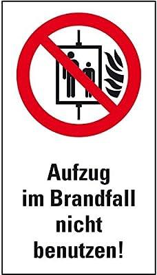 LEMAX® Verbots-Kombi Aufzug im Brandfall nicht benutzen,ASR/ISO,Kunststoff,140x250mm