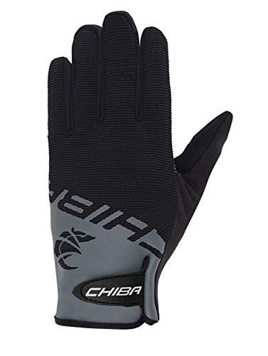 Chiba Blaster Kinder Fahrrad Handschuhe lang schwarz/grau 2017: Größe: M (5) (Handschuhe Kinder Lange Für)
