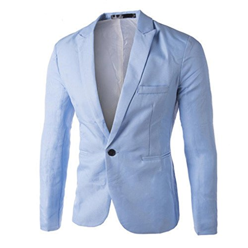 Elecenty Herren Übergangsjacke Blazer Jacke Solide Outdoorjacke Mantel Männer Oberbekleidung Pullover Sweatshirts Streetwear Steppjacke Outwear (M, Blau) (Blaue Mantel Blazer Sport)