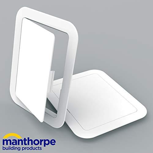 Manthorpe GL100 Inspektionsklappe, Kunststoff, 150 x 200 mm, Weiß