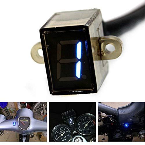 YUnnuopromi 1-6 Level Sensor Kit Motorrad-drehzahlgetriebe LED Digital Indicator Display Tool Schwarz