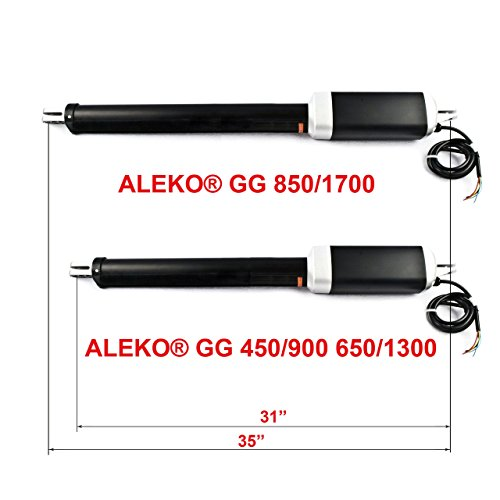 Aleko gg1700Zubehör-Kit Heavy Duty Elektrische Tor Motor für Dual Swinging Tore bis 8-meters lang und 800-kilograms