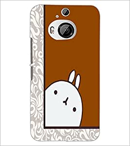 PrintDhaba Cartoon D-5489 Back Case Cover for HTC ONE M9 PLUS (Multi-Coloured)