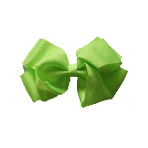 jessidress-madchen-haarschleife-haarclip-haarspange-13cm-fluor-grun