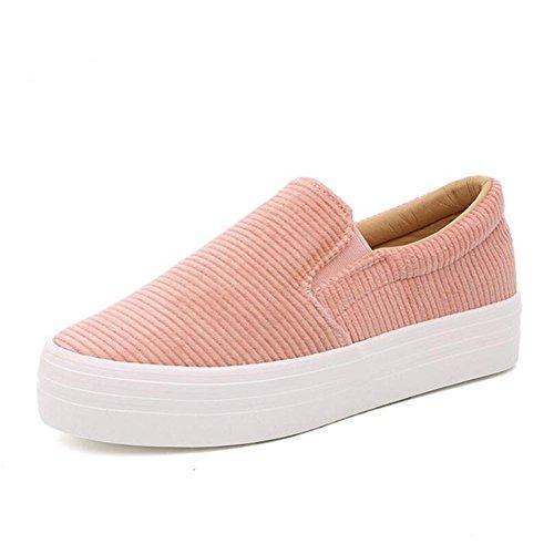 Scarpe casuali classiche donna / donna, primavera e autunno moda scarpe piane semplici tre colori per la scelta Pink