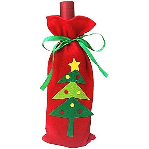 Regalo di Natale bottiglia di vino borse goodie borse,Albero di Natale