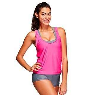 Women Tankini Sets Bikini Sets with Shorts Swimwear Three Piece Swimsuits (UK 8-10)
