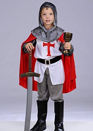 Kinder Größe tapfere Ritter Kreuzritter Kostüm Large (9-12yrs) (Tapfere Ritter Kind Kostüme)