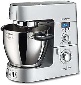 Kenwood Cooking Chef KM096 Küchenmaschine (1500 Watt, Induktion 20-140°C, 6,7 L Füllmenge, 1,6 L ThermoResist Glas-Mixaufsatz, 1,2 L Multi-Zerkleinerer) (Generalüberholt)