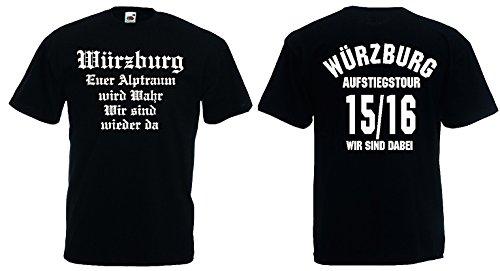 Würzburg Aufstiegs-Tour T-Shirt von S-XXXL Austeiger 2015/16 Schwarz