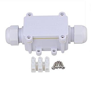 weiß IP68 Wasserdicht Outdoor Mini 2 Way Kabel Wire Connector Junction Box 1 in 1 Out mit Terminal