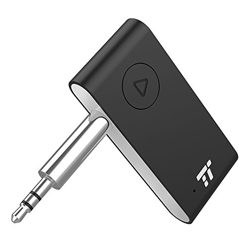 Bluetooth Aux Adapter 4.2 TaoTronics APTX Stereo Bluetooth Empfänger mit Mikrofon15h Freisprech-Audioadapter für KFZ Auto Lautsprechersystem CVC 6.0
