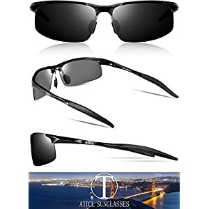 eda5f444d9 ATTCL Mens Fashion Driving Polarized Sunglasses Man Al-Mg Metal Frame Ultra  Light – Rockhitech