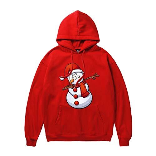 LIMITA Kapuzenpullover Herren Herbst und Winter Hoodie Weihnachten Pullover Weihnachtsschneemann Gedruckter Hoodie Langarm-Kapuzenoberteile Sweatshirt Bluse
