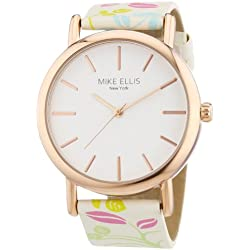 Mike Ellis New York Women's Quartz Watch with Faux Leather L2979