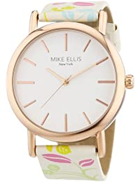 Mike Ellis New York Damen-Armbanduhr Analog Quarz Kunstleder L2979