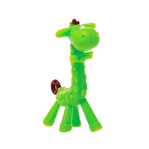 Dearmy Baby Giraffe Beißring Spielzeug, Zahnen Schnuller Kauen Ringe zum Babys Säugling Kleinkind, Weich Silikon, BPA-frei, Natürlich Bio Ausbildung Zähne Griff Zähne Beruhigend Gummi Massagegerät Oral Hygiene (Grün) -