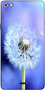 Snoogg White Dandelions Designer Protective Back Case Cover For Micromax Canvas Silver 5 Q450