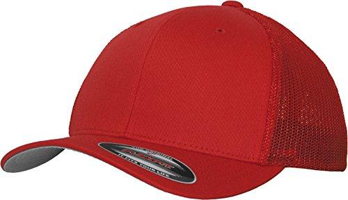 Flexfit Mesh Trucker kappe, rot (Red), L/XL Sommer Trucker Cap