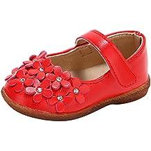 Zapatos para bebé Niñas Vestir Fiesta Flor Princesa Sandalias Zapatitos Planos Mocasines Bebé Niña Zapatillas de