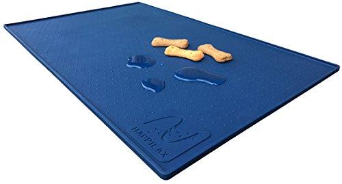 Sottociotola premium in silicone per cani e gatti con bordo extra alto e gommini antiscivolo | Tappetino di Happilax (L (60 x 40 cm))