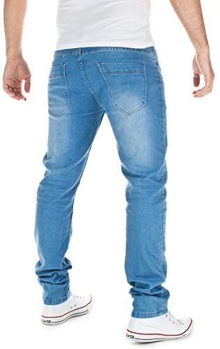 Sublevel Herren Jeans Slim Fit Blau