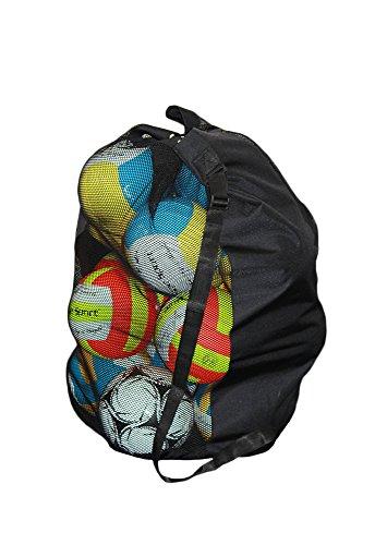 Ballsack mit Tragegurt für 18-20 Bälle, schwarz - Fußball, Volleyball, Handball, Basketball, Softball