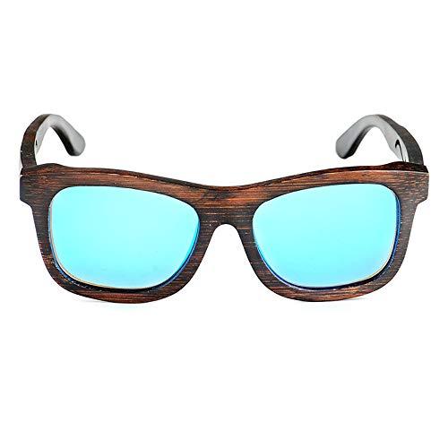CWPYB Walnuss-Holz-Sonnenbrille, UV-Schutz Shadow Shadow Shadow Wooden Frame Sunshade Spiegel Matte Sonnenbrille Paare polarisierte Linsen-Sonnenbrillen für Travel Cycling Fishing Beach