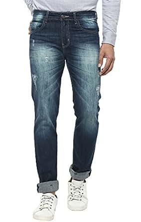 AMERICAN CREW Men's Straight Fit Jeans (ACJN105-30, Dark Blue, 30)